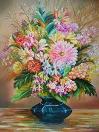 Bouquet vase noir