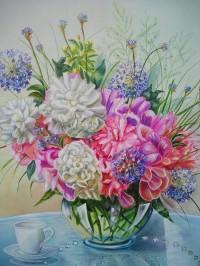 Bouquet vase transparent