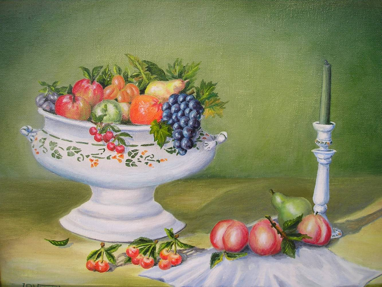 Coupe de fruits 1 jp viguier artiste peintre - Jeux ou on coupe des fruits ...