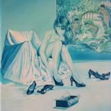 Femme aux chaussures