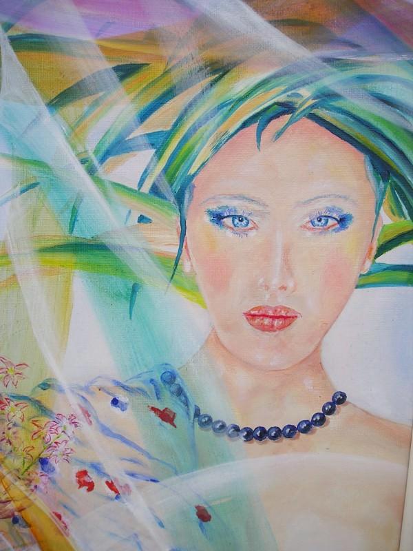 Femme aux perles