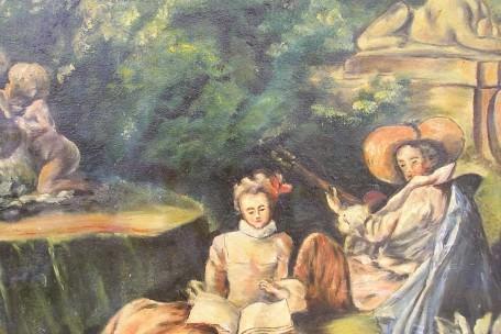 Duo de musique dans le parc